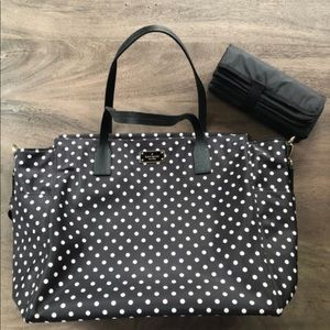 Kate Spade Diaper Bag (black & white polka dots)